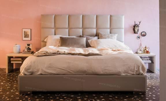 """Кровать с мягким изголовьем AL-0006 """"Chioccolato"""""""