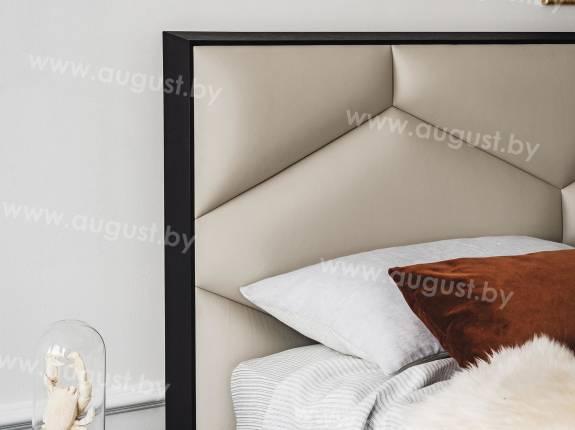 """Кровать с мягким изголовьем AL-0008 """"Оrnamento"""""""