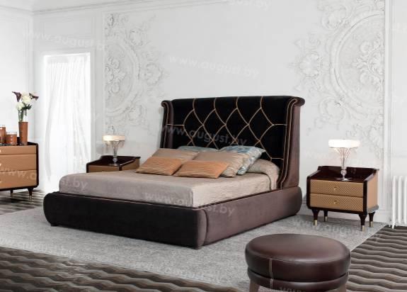"""Кровать с мягким изголовьем AL-0035 """"Duchessa"""""""
