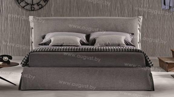 """Кровать с мягким изголовьем AL-0012 """"August Mandellina"""""""