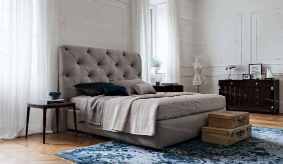 """Кровать с мягким изголовьем AL-0058 """"August Silvia"""""""