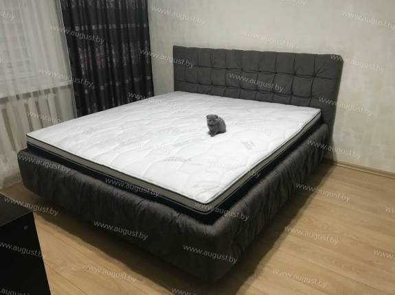 """Кровать с мягким изголовьем AL-0045 """"August Loft"""""""
