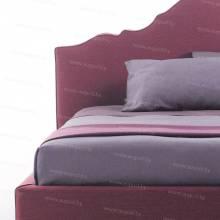 """Кровать с мягким изголовьем AL-0355 """"Santa Lucia"""" Rose"""