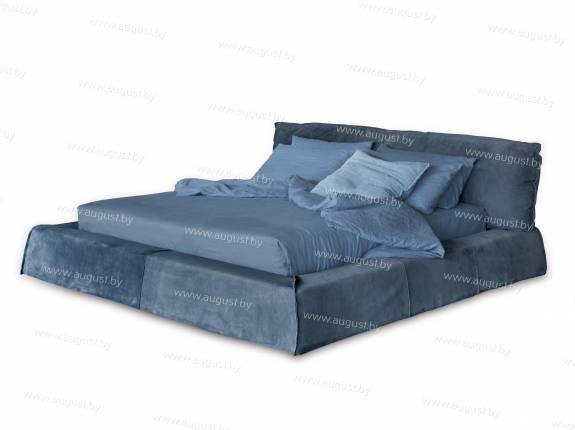 """Кровать с мягким изголовьем AL-0700 """"Monte Carlo"""" (Blue)"""