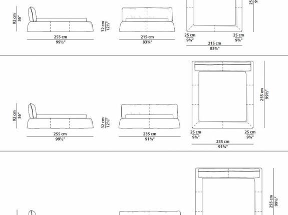"""Кровать с мягким изголовьем AL-0700 """"Monte Carlo"""" (Savanna)"""
