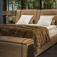 """Кровать с мягким изголовьем AL-0345 """"August Bentley"""""""