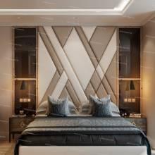 Мягкие стеновые панели ASW-0004  в комплекте с кроватью
