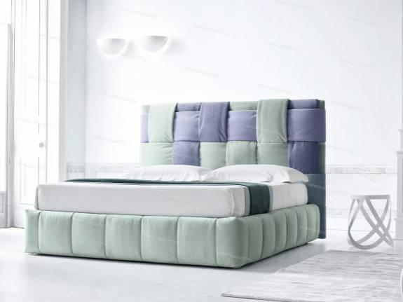 """Оригинальная кровать с мягким изголовьем AL-0350 """"August Twister"""""""