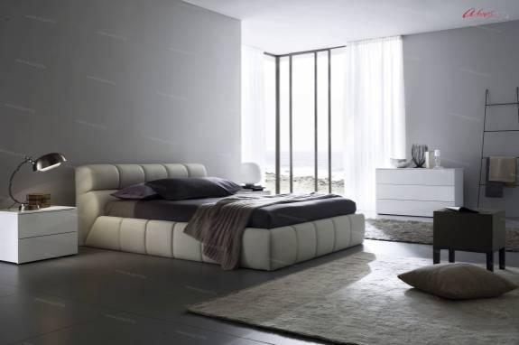 """Кровать с мягким изголовьем AL-0057 """"Massimo"""""""