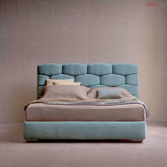 """Кровать с мягким изголовьем AL-0085 """"August Mattoni"""""""