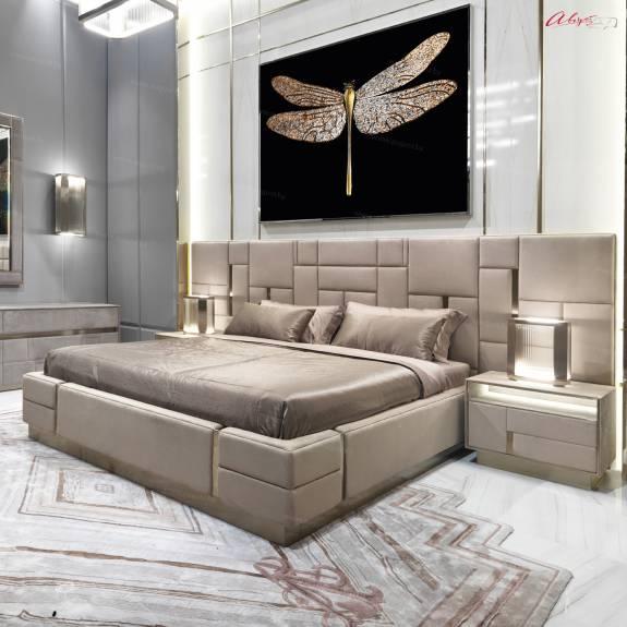 """Кровать с мягким изголовьем AL-0401 """"August Cleopatra"""""""