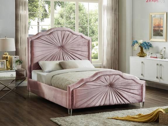 """Кровать с мягким изголовьем AL-0096 """"August Pretoria"""" pink"""