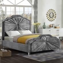 """Кровать с мягким изголовьем AL-0096 """"August Pretoria"""" grey"""