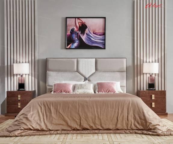 """Кровать с мягким изголовьем AL-0078 """"August Dolce Vita"""""""