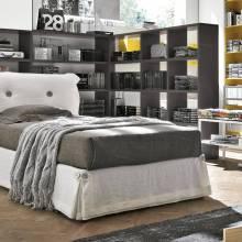 """Подростковая кровать с мягким изголовьем AGL-0001 """"August Milky Way White"""""""