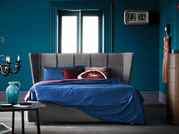 """Кровать с мягким изголовьем AL-0092 """"August Collare Medici"""""""