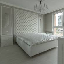 """Кровать с мягкими стеновыми панелями ASW-0006 """"August Piccadilly"""""""