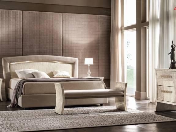 """Кровать с мягким изголовьем  AL-0098 """"August Bellagio"""""""