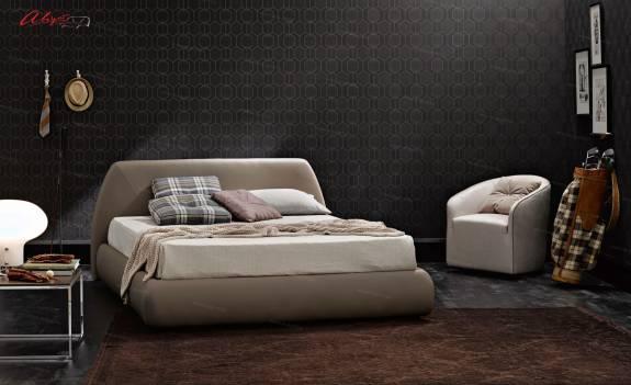 """Кровать с мягким изголовьем AL-0015 """"August Belluchi"""""""