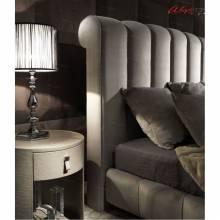 """Кровать с мягким изголовьем AL-0089 """"August Catellano"""""""