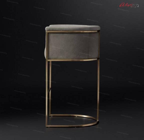 """Современный дизайнерский барный стул ABCH-0001 """"August Hugo"""" brass"""