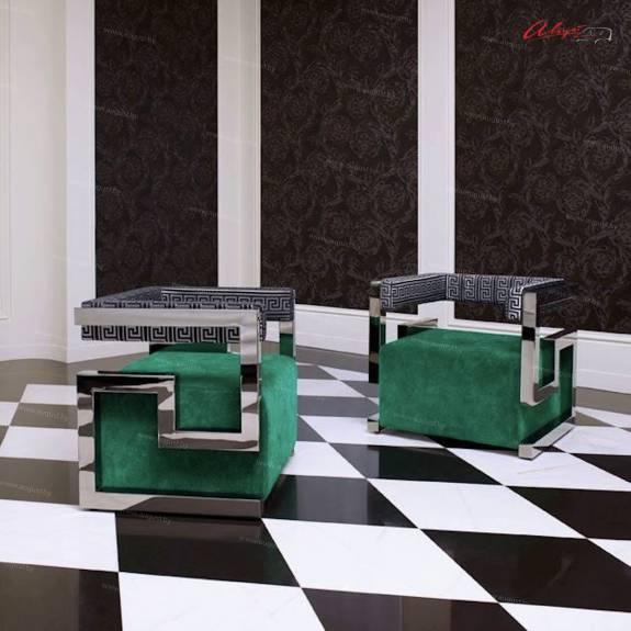 "Дизайнерский стул-кресло ACH-0004 ""August Prado"" chrome edition"