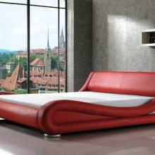 """Кровать с мягким изголовьем AL-0053 """"August Ferrari"""" red"""