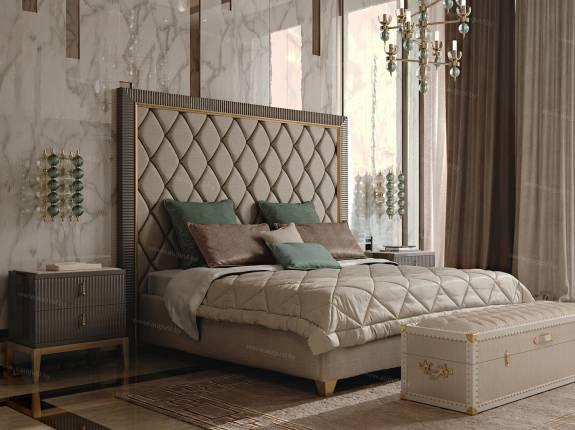 """Кровать с мягким изголовьем AL-0132 """"August Ritz"""""""