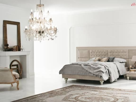 """Кровать с мягким изголовьем AL-0049 """"August Valencia"""""""