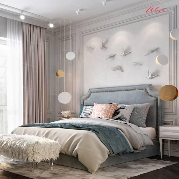 """Кровать с мягким изголовьем AL-0018 """"August San Marino"""""""
