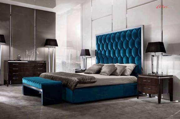 """Кровать с мягким изголовьем AL-0017 """"August Manhattan"""""""