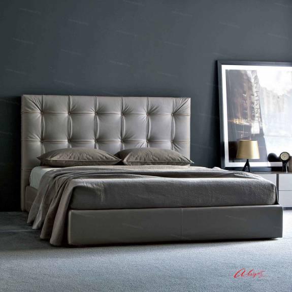 """Кровать с мягким изголовьем AL-0024 """"August Bergamo"""""""