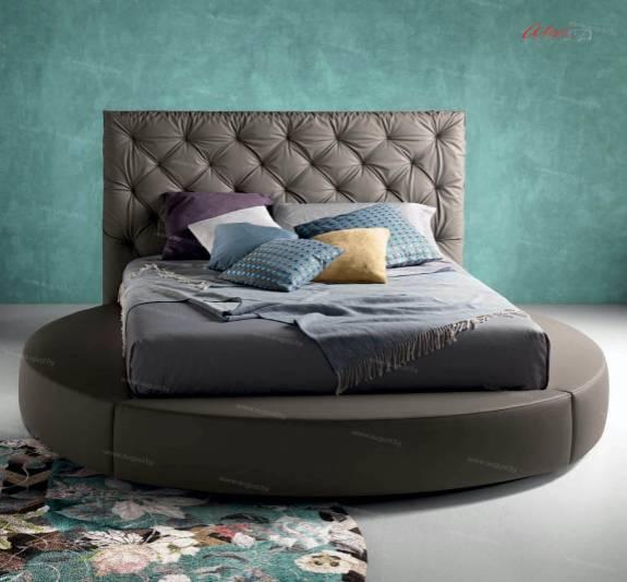 """Кровать с мягким изголовьем AL-0022 """"August Rotonda"""""""