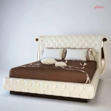 """Кровать с мягким изголовьем AL-0104 """"August Napoleon"""""""