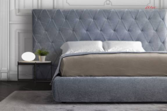 """Кровать с мягким изголовьем AL-0025 """"August Martinika"""""""