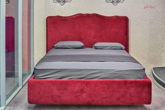 "Кровать с мягким изголовьем AL-0300 ""August Michelle"" bordo"