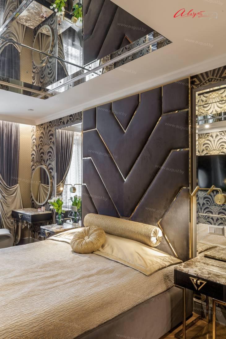 """Шикарная дизайнерская кровать с мягкими стеновыми панелями ASW-0010 """"August Babylon""""_3.jpg"""