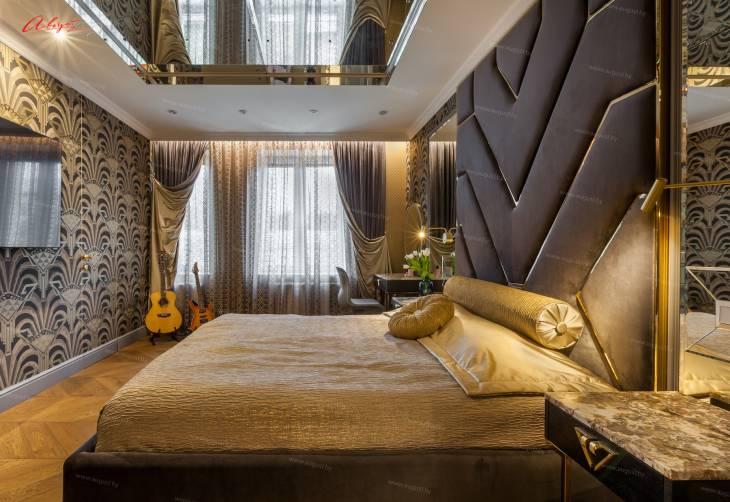 """Шикарная дизайнерская кровать с мягкими стеновыми панелями ASW-0010 """"August Babylon""""_6.jpg"""