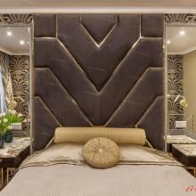 """Кровать с мягкими стеновыми панелями ASW-0010.2 """"August Babylon II"""""""